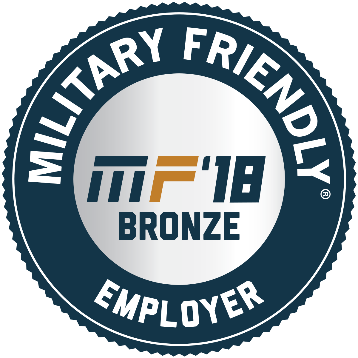 Military Friendly Employer - MF'18 BRONZE